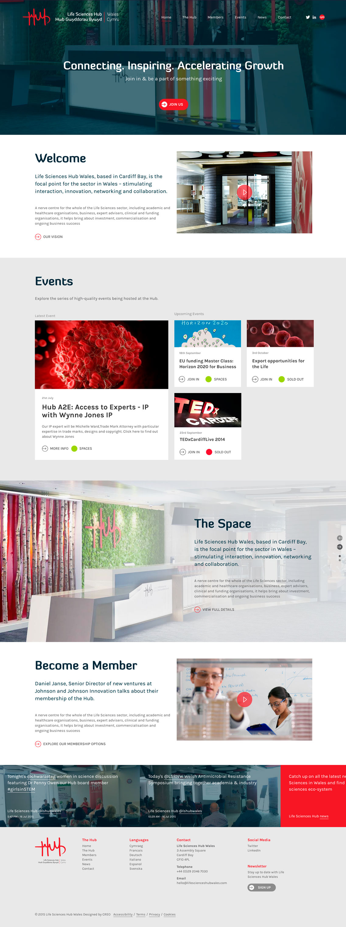 Website Design - Life Sciences Hub - Home Page