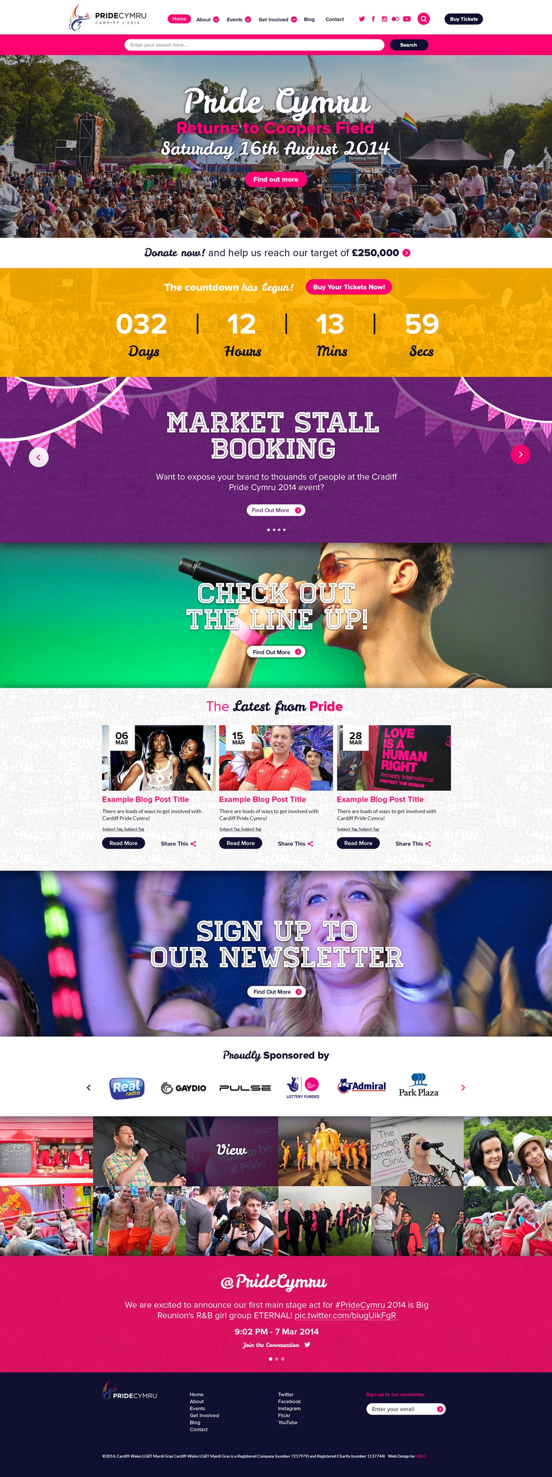 Web Design Project Cardiff Pride