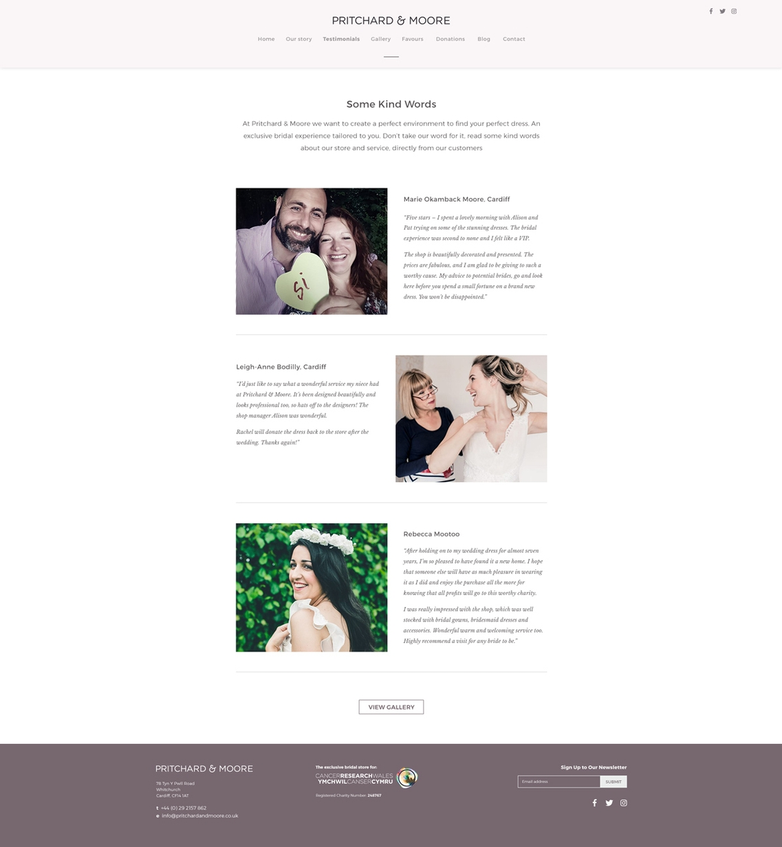 Web Design - Pritchard and Moore