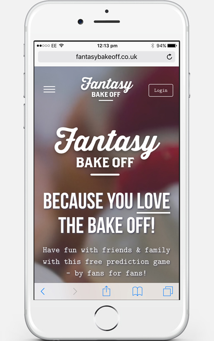 Web Design Project - Fantasy bakeoff