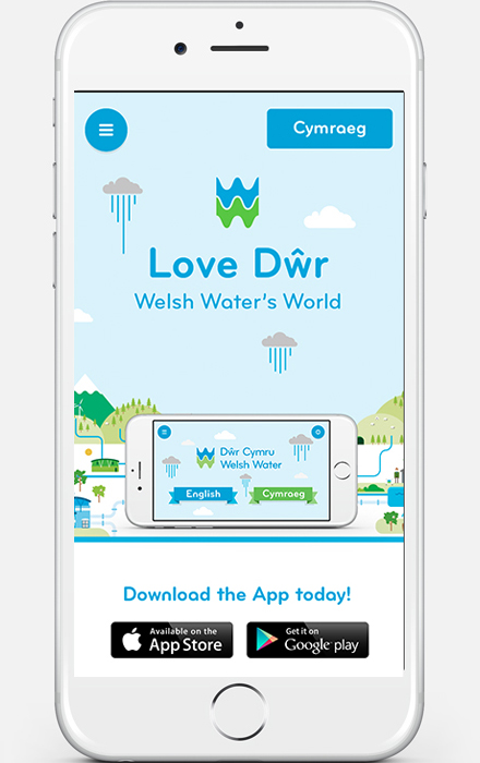 Web Design - Welsh Water Mobile