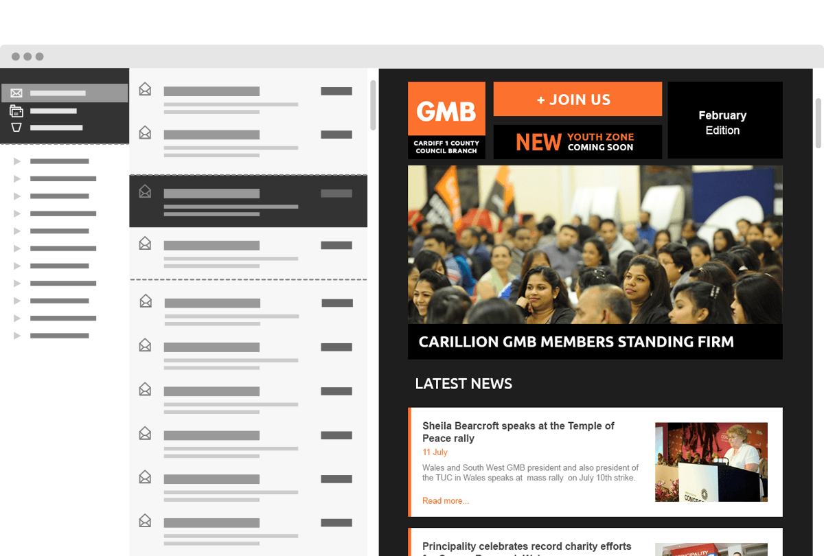 Email Newsletter Design GMB